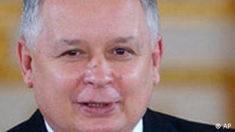 Lech Kaczynski Präsident Polen