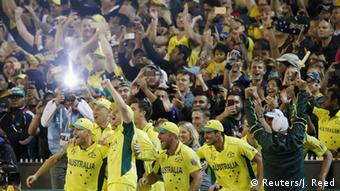 Australia's cricketers celebrate their World Cup victory