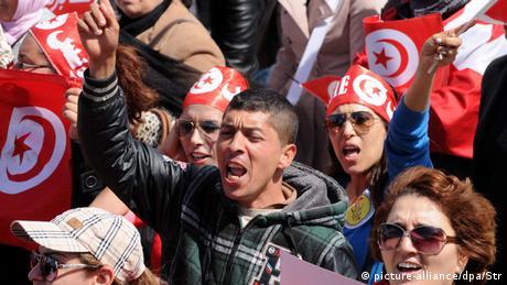 Marsch gegen den terror in Tunis
