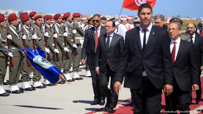Tunesien Protestmarsch gegen Extremismus - Francois Hollande