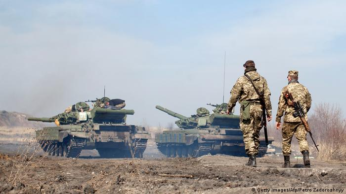 Украинские солдаты в районе Луганска