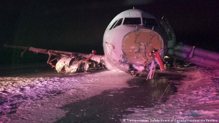 Kanada Halifax International Airport, Air Canada Airbus A320 Unfall
