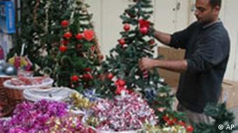 Weihnachten in Irak Bagdad Weihnachtsbaum