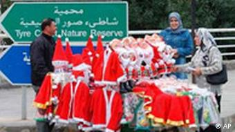 Weihnachten in Libanon Weihnachtsmann