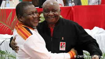 Armando Guebuza und Filipe Nyusi Treff des Zentralkomitees von FRELIMO