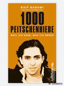 A yellow book cover shows Raif Badawi