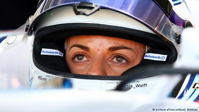 Die britische Formel-1-Testfahrerin Susie Wolff