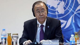 UN General Sekretär Ban Ki Moon in Bagdad