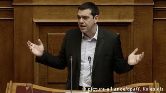 O Αλέξης Τσιπρας στο κοινοβούλιο