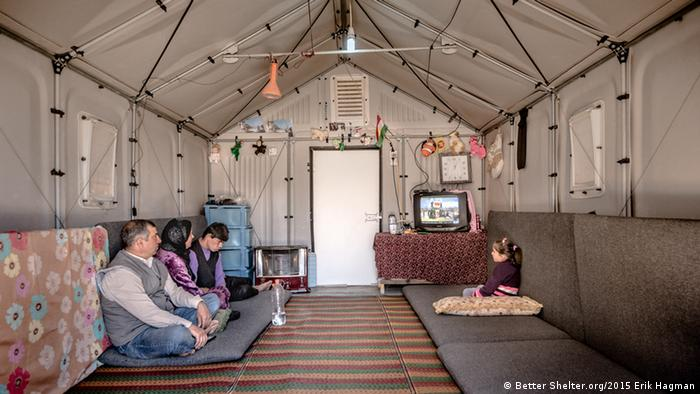 An IKEA refugee shelter