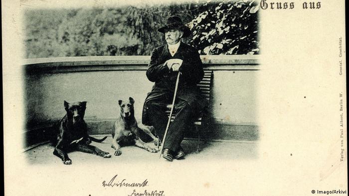 Otto von Bismarck Porträt Reichskanzler Hut