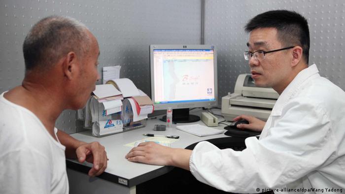 Arzt Patient Krankenhaus China Shanghai