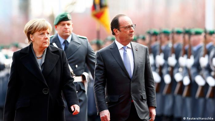 Merkel und Hollande in Berlin (Foto: Reuters)