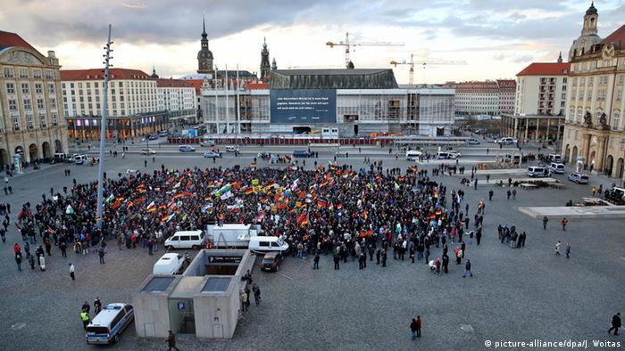 Deutschland Pegida Demonstration in Dresden