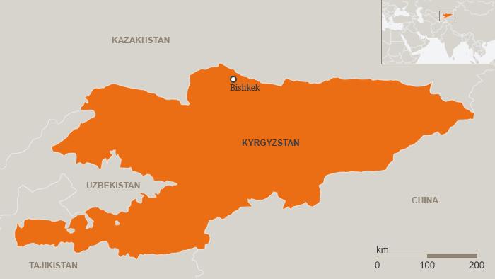 Karte Kirgisistan Englisch