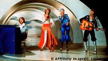 Abba performing at the Grand Prix d'Eurovison de la Chanson 1974
