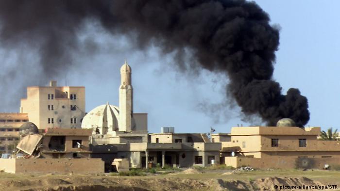 Irak Tikrit Kämpfe Eroberung Rauch
