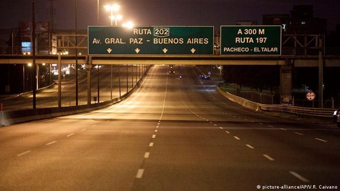 Argentinien Buenos Aires Generalstreik