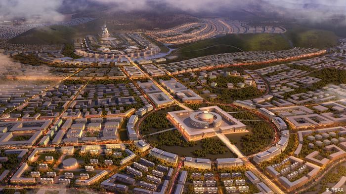 Geplante Ökostadt Maidar City in der Mongolei (Grafik: RSAA GmbH)