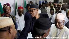 Nigeria Abuja Mohammadu Buhari Anhänger Jubel