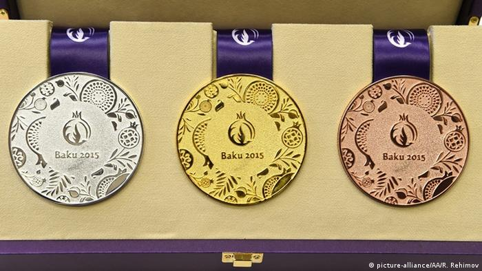 Medals due to be presented at the Baku European Games