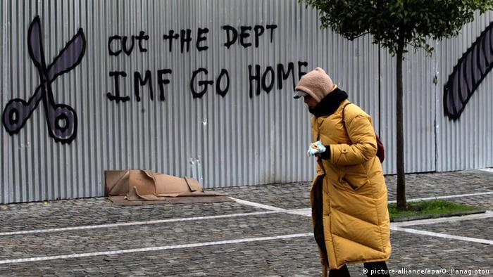 Griechenland Athen Rentner Graffiti Anti IWF VARIANTE