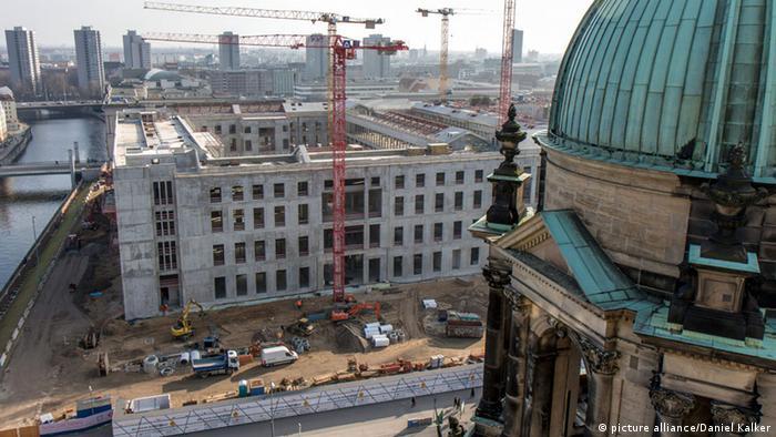 Baustelle des Berliner Stadtschlosses von oben