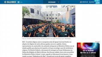 """""""Los Gladiadores del Altar dan la impresión de ser una milicia"""", comentó Márcio Alexande en entrevista con el diario carioca O Globo."""
