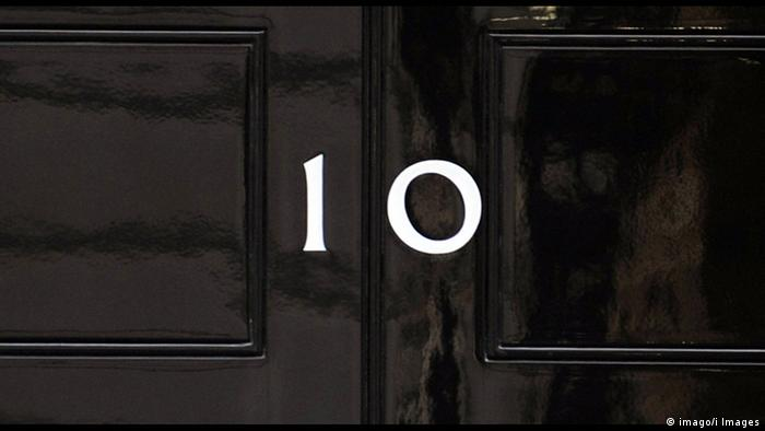 Großbritannien Tür von Number 10 Downing Street