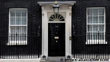 Großbritannien Tür von Number 10 Downing Street Eingang