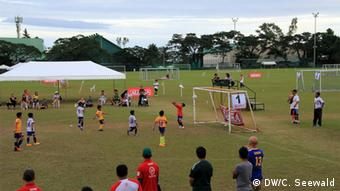 Junior football game in the Philippines