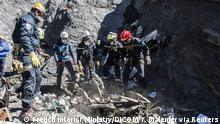 April 1, 2015 Resuce workers and investigators, seen in this picture made available to the media by the French Interior Ministry April 1, 2015, work near debris from wreckage at the crash site of a Germanwings Airbus A320, near Seyne-les-Alpes. The German pilot, Andreas Lubitz, 27, who crashed a plane in the French Alps last week, killing 150 people, told officials at a Lufthansa training school in 2009 that he had gone through a period of severe depression, the airline said on Tuesday. REUTERS/French Interior Ministry/DICOM/Y. Malenfer/Handout NO ARCHIVES. FOR EDITORIAL USE ONLY. NOT FOR SALE FOR MARKETING OR ADVERTISING CAMPAIGNS. THIS IMAGE HAS BEEN SUPPLIED BY A THIRD PARTY. IT IS DISTRIBUTED, EXACTLY AS RECEIVED BY REUTERS, AS A SERVICE TO CLIENTS