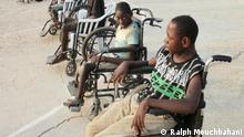 """Behinderte beim Sport in Sambia """"Die Welt spricht Sport"""". Foto: Ralph Mouchbahani Bilder sind aus Sambia, von dem DOSB-Langzeitprojekt, dass Ralph Mouchbahani dort leitet."""