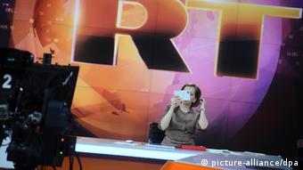 Российский канал RT, кадр из телеэфира (архивное фото)