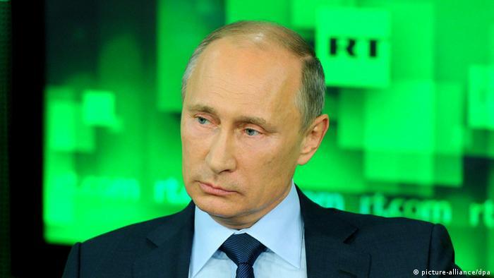 Russlands Präsident Putin im russisches Fernsehen (Foto: Itar-Tass)