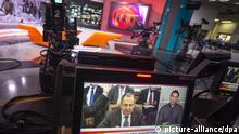 2563066 01/28/2015 Russia Today newsroom during a live program in English. Evgeny Biyatov/RIA Novosti