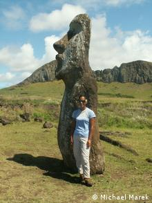Uri Avaka Teao on Easter Island (Photo: Michael Marek)