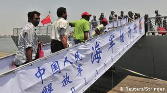 Chinas Marine evakuierte Landsleute aus dem Jemen im April 2015. (Foto: Reuters)