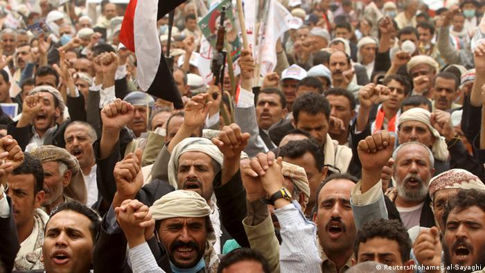 Protest Anhänger Ali Abdullah Saleh Jemen (Reuters/Mohamed al-Sayaghi)