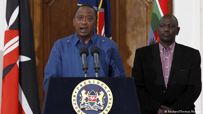 Kenia Garissa Universität Anschlag Kenias Präsident Uhuru Kenyatta äußert sich zu dem Anschlag (Reuters/Thomas Mukoya)