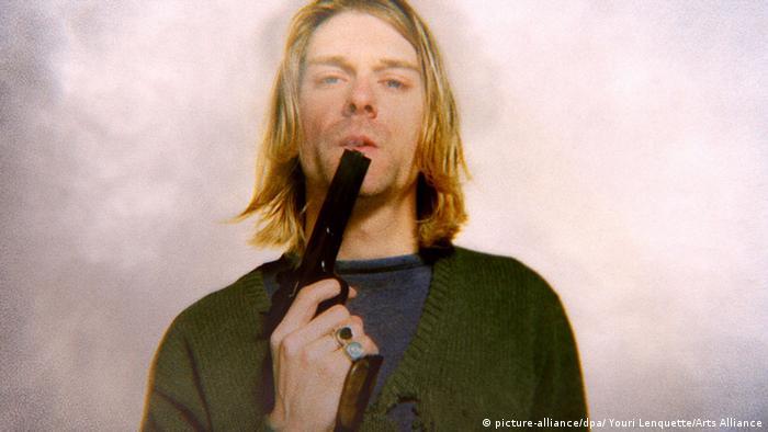 Kurt Cobain with a gun.