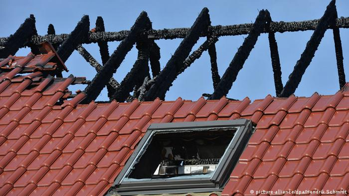 Burnt roof