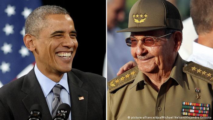Bildergalerie Kuba Bildkombo Barack Obama Raul Castro