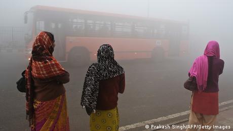 Indien Luftverschmutzung in Delhi