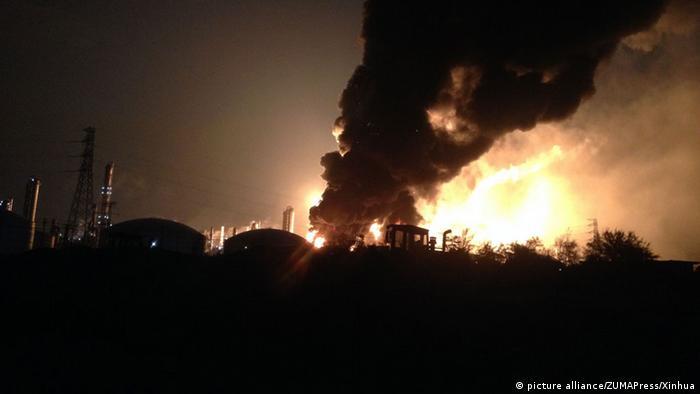 China Explosion Chemiefabrik