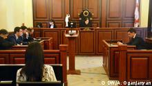 Das Foto (Fotos) hat unsere Korrespondentin in Tbilissi (Tiflis), Georgien Amalia Oganjanyan am 6. April 2015 gemacht. Thema: Prozesse gegen Mikhail Saakaschwili in Georgien Bildbeschreibung: Gerichtsanhörung gegen Saakaschwili wegen Anschlag auf einen Abgeordneten, 6. April 2015
