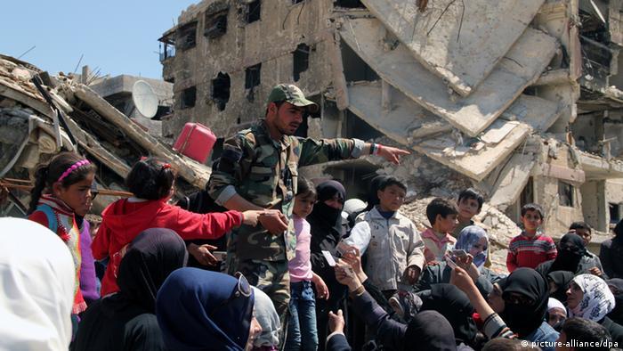 Jarmuk zerstörter Stadtteil Damaskus