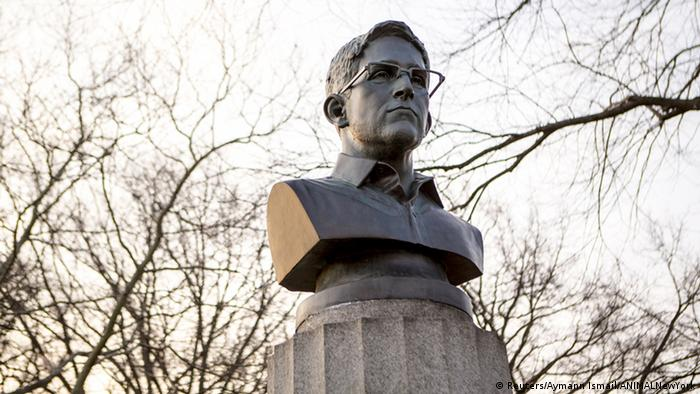 Edward Snowden Statue Brooklyn New York USA