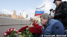 Russland Blumen für den ermordeten Oppositionspolitiker Boris Nemzow