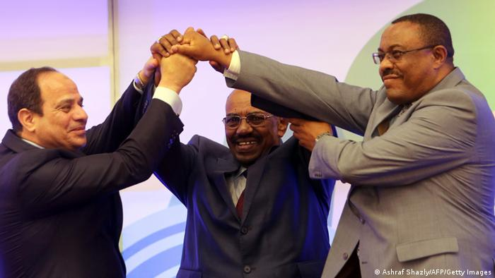 Äthiopien Grand Renaissance Staudamm al-Sisi al-Bashir Desalegn (Ashraf Shazly/AFP/Getty Images)